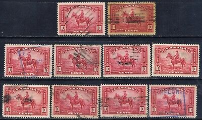 Canada #223(2) 1935 10 cent carmine rose ROYAL CANADIAN MOUNTED POLICE 10 Used
