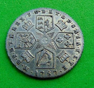 EXTREMELY  FINE  GEORGE  III  FULL  SILVER  SIXPENCE  6d....  LUCIDO_8  COINS
