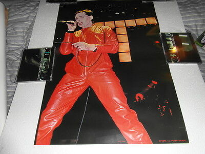 Gary Numan -  GARY NUMAN No.1 & 2 posters.(Gary in red/blue leather jumpsuits).