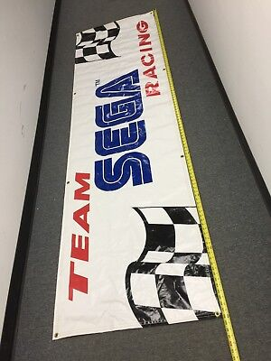 Sega Racing Banner 9 X 2.5 Ft Manxtt  Arcade Game