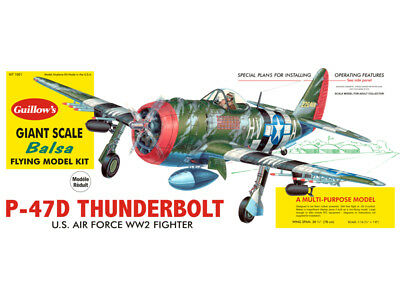 Republic P-47D Thunderbolt GIANT Guillow's Flying Balsa wood kit#1001