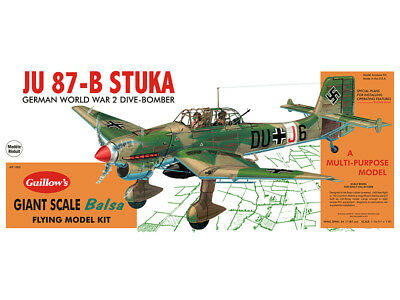 JUNKERS JU-87B STUKA Giant Flying Balsa wood model kit Guillow's#1002