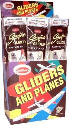 Starfire Balsa Wood Glider bulk 24 pack Guillows kit#0035