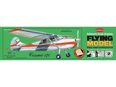 Cessna 170 Guillow's Balsa wood flying scale model kit#0302