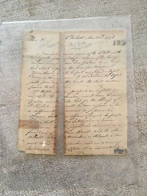 1796 AUTOGRAPH  LETTER Andrew Moore-  Revolution, member of first U. S. Congress