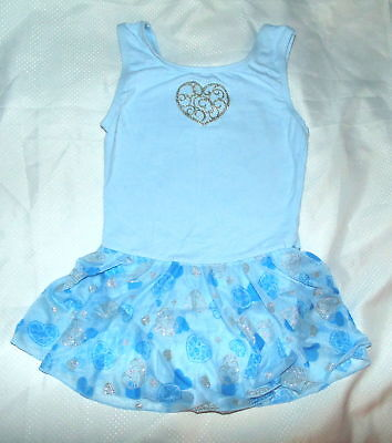 Girls M Medium 7/8 Freestyle by Danskin Dance Blue Skirted Leotard