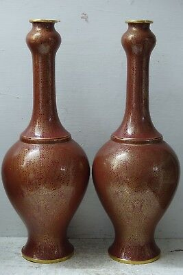 Stunning Quality Large Pair Of Cloisonne Vases - Beautiful Decoration -Very Rare