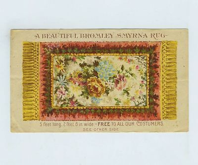 1800's Advertising Card Wrigley Jr Co Chewing Gum Turkish Rug Promotion bv8372