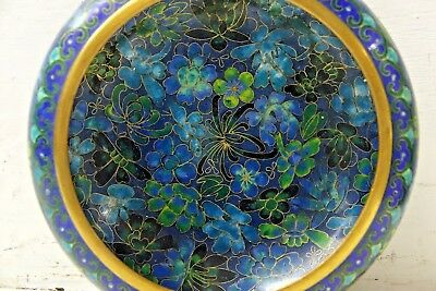 Very Beautiful Cloisonne Flowery Bowl - Stunning Example - Rare - L@@k