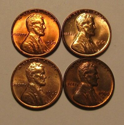1960 PD Small/Large Date Lincoln Cent Penny - Mixed AU/BU Condition - 22FR