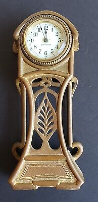Art  Nouveau   Brass Clock