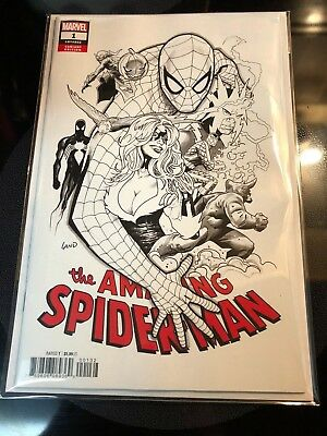 Amazing Spider-Man #1 1 per Store Black and White Greg Land Variant