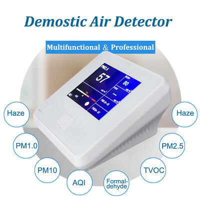 8IN1 Laser Formaldehyde Detector HCHO TVOC PM2.5 PM10 PM1.0 Air Quality Monitor