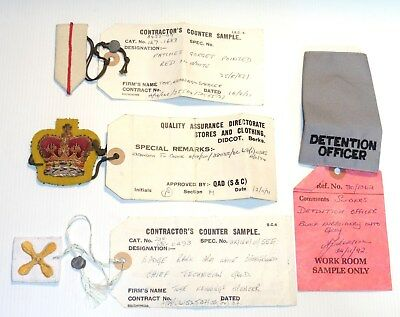 British Militray Manufacturers WORK ROOM SAMPLE Insignia collection of 4