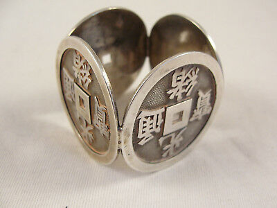 Unusual Chinese Silver NAPKIN RING. Wang Hing c1900