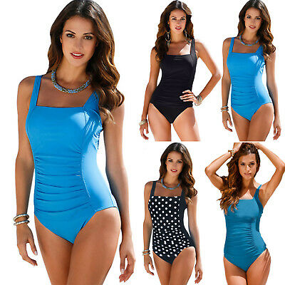 Plus Size Women Swimsuit Swimwear Monokini One Piece Beach Bikini Push Up Padded