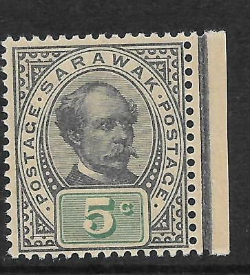 Sarawak 1899 5 Cent Prepared For Use, Not Issued.
