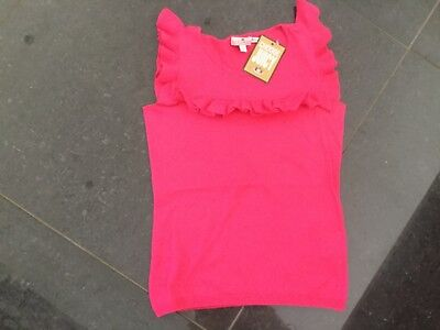 NWT Juicy Couture New & Genuine Pink Sleeveless Cotton Knit Top Girls Age 8