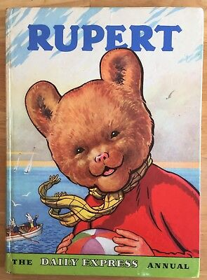 RUPERT ORIGINAL ANNUAL 1959 Inscribed Not Price Clipped G/VG