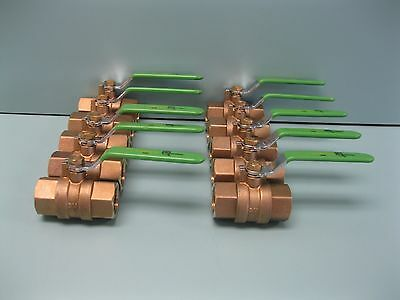 "Lot (10) 3/4"" NPT United 400# Brass FP E1400 Lead Free Ball Valve Z11 (2030)"