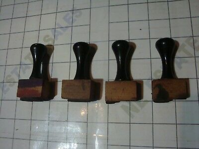 4x vintage antique old RETAIL STORE price pricing RUBBER STAMPS SET / $ , . cent