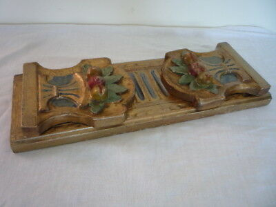 Decorative Vintage Italian Florentine Expending Book Slide Shelf Ends
