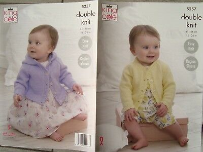 King Cole 5257 Baby/Child's Cardigans DK Knitting Pattern Sizes 16-26""