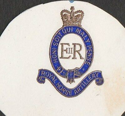 Royal Horse Artillery British Military Old Embossed Paper Crest