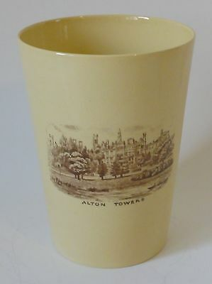 Alton Towers W H Goss POTTERY MUG / BEAKER scarce Royal Commemorative 1935 Geo V