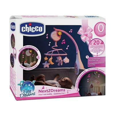 Chicco Next2Dreams Cot Mobile (Pink) With Music & Nightlight - RRP £29.99