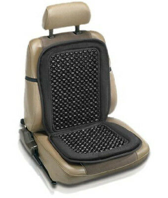 Car Van Taxi Front Seat Black Wooden Bead Beaded Massage Massaging Cover Cushion