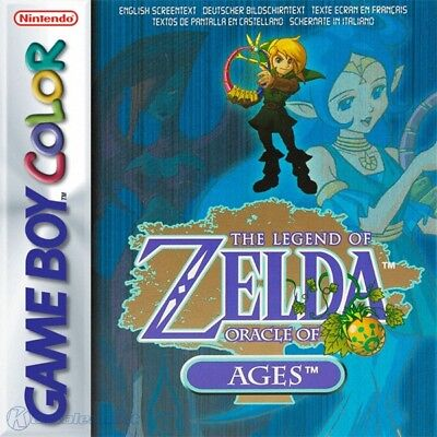 Nintendo GameBoy Color game - The Legend of Zelda: Oracle of Ages boxed