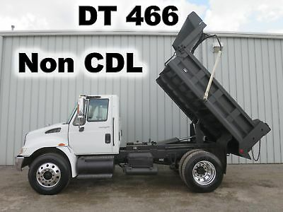 4300 Dt466 Automatic 10-Ft Contractor Dump Bed Body Haul Truck Non-Cdl Low Miles