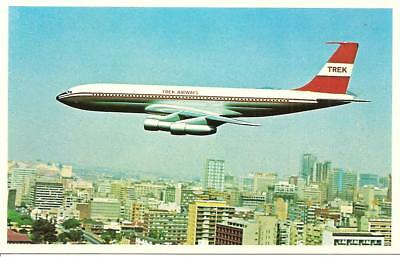 Trek Airways 707 Airline Issue Postcard