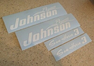 Johnson Sea Horse 3 HP Vintage Outboard Motor Decals FREE SHIP+Free Fish Decal!