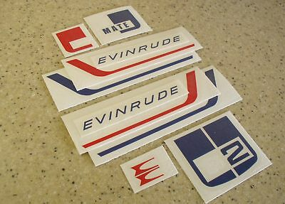 Evinrude Vintage MATE 2/3 HP Outboard Decal FREE SHIP + FREE Fish Decal!