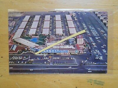 Vegas Stardust Aerial Photo Postcard Nevada Vintage View Aku ? Old Early History
