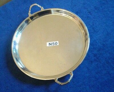 """Antique Circa 1905 Footed Salver /   Tray By Charles S Green & Co 9"""""""