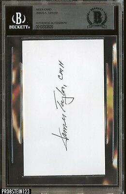James Taylor Rock & Roll HOF Signed BIndex Card AUTO Autograph BGS BAS