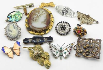 Collection of Vintage Brooches, Mixed / Job Lot.