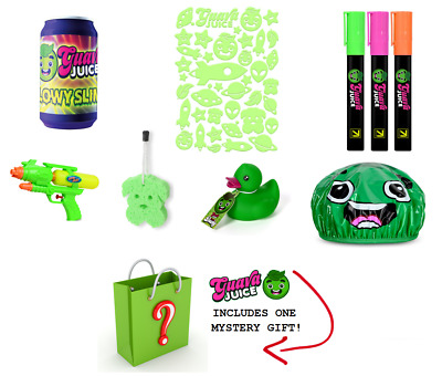 Guava Juice Cap Ducky Glowy Slime Marker Water Gun + Mystery Gift! Roi YouTuber