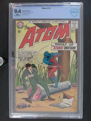 Atom #14 -NEAR MINT- CBCS 9.4 NM - DC 1964 - 2nd HIGHEST GRADE on The Census!!!