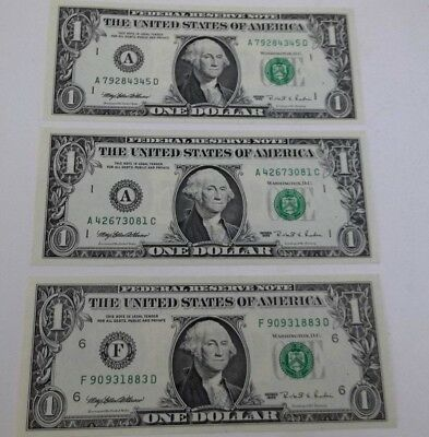 Lot of 3 assorted RARE *Web Notes* 1995 all Uncirculated - Collect - FREE SHIP