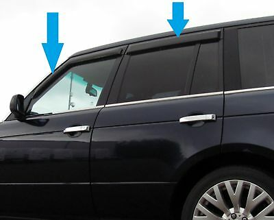 Window Wind/rain deflector tinted smoked kit for Range Rover L322 2002-12 vogue