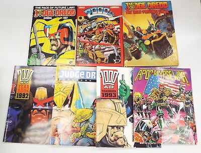 JUDGE DREDD THE ROLEPLAYING GAME + 6 X JUDGE DREDD / 2000AD Books/Annuals - C51