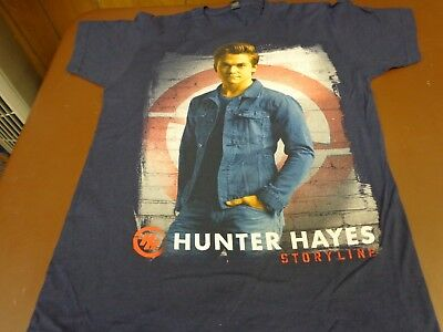 HUNTER HAYES Storyline T-Shirt Size Small Country Music Artist    J0