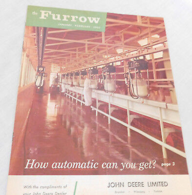1960 John Deere 'the Furrow' Brochure Cattle Farming Equipment 23 Pages