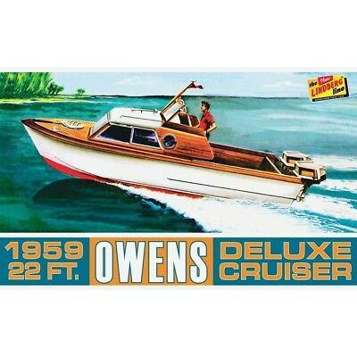 Owens Outboard Cruiser Boat 1/25 scale skill 3 Lindberg plastic model kit#222