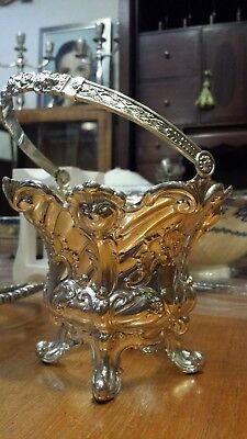 160g STERLING SILVER RICH ANTIQUE FRENCH Rococo STYLE COVER INTERIOR FLOWER POT