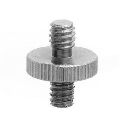 """New Convert Male Adapter Double For Camera Screw Piece Threaded 1/4"""" To 1/4''"""